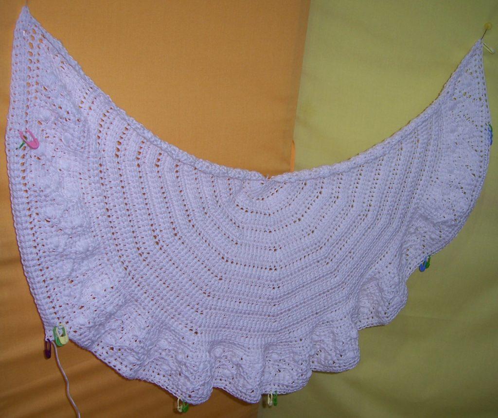 Tunisian Lace Crochet Shawl 'Argo' by Aoibhe Ni.
